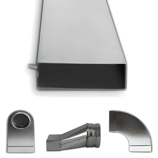 Flachkanal Stahl verzinkt