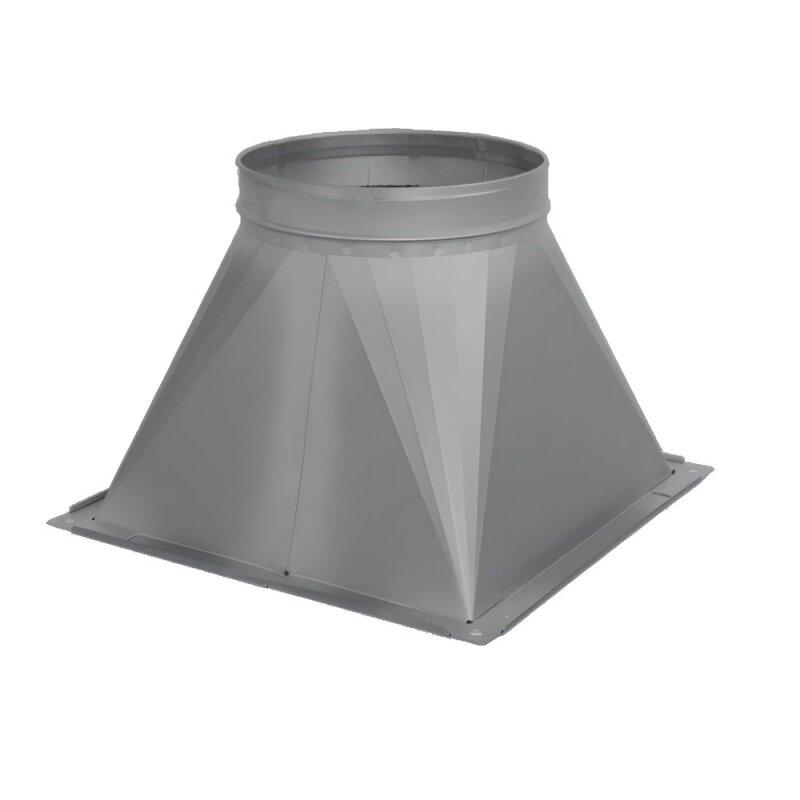 Sonderformteil bergang eckig rund v2a edelstahl for Stahl pool eckig