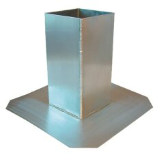 Flachdach-Durchführung Unterteil Aluminium/ FDAU