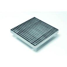 Gitterrostrinne-Einlaufrost verzinkt 200/200mm 50-75mm