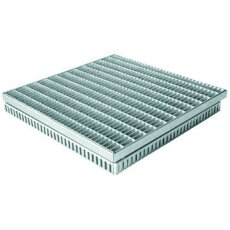 Gitterrostrinne-Einlaufrost Verzinkt 400/400mm 50-75mm