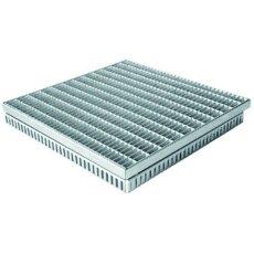 Gitterrostrinne-Einlaufrost Verzinkt 400/400mm 100-125mm