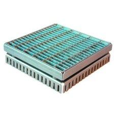 Gitterrostrinne-Einlaufrost Edelstahl 200/200mm 100-125mm