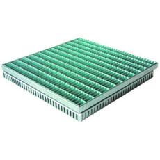 Gitterrostrinne-Einlaufrost Edelstahl 400/400mm 50-75mm