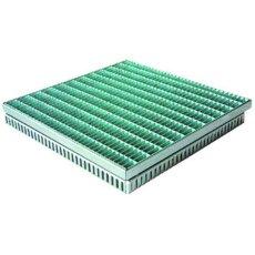 Gitterrostrinne-Einlaufrost Edelstahl 400/400mm 75-100mm