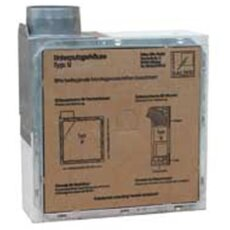 Badventilator Brandschutz mit Lüftereinsatz 60m³/h mit Nachlauf und Feuchtesensor