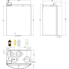 Systemair SAVE VTR 150/K R 0,5 weiß, WRG