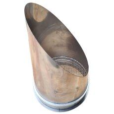 Ausblassstutzen  für Lüftungsrohr V2A matt mit...
