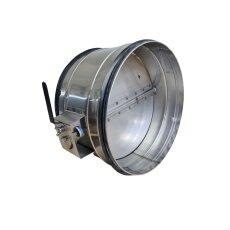 Drosselklappe für Lüftungsrohr V2A matt mit...