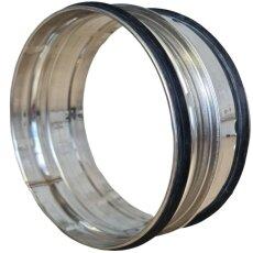 Steckverbinder für Lüftungsrohr V2A matt mit...