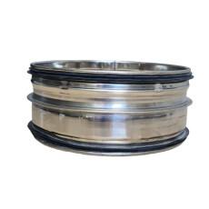 Steckverbinder für Rohr V2A matt NW 100mm mit...
