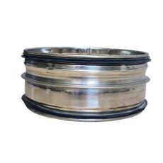 Steckverbinder für Rohr V2A matt NW 125mm mit...