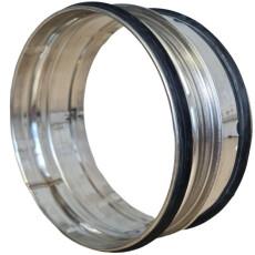 Steckverbinder für Rohr V2A matt NW 400mm mit...