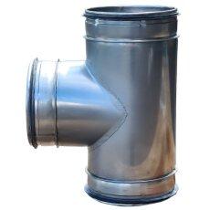T-Stück 90° für Lüftungsrohr V2A matt...