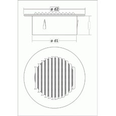 Wetterschutzgitter - Rund Aluminium NW 150