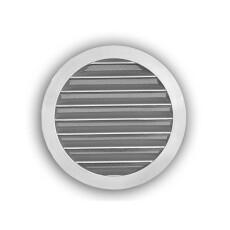 Wetterschutzgitter- Rund NW 100mm aus gegossenem Aluminium
