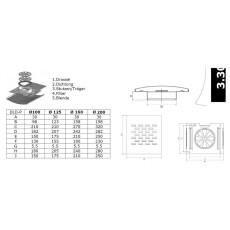 Design-Luftdurchlaß NW 160mm für...