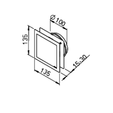 Helios DLV 100 Design-Lüftungsventil