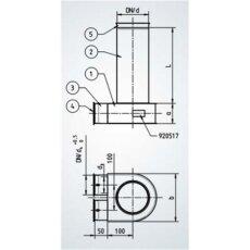 Merk Deckenkasten Ventilumlenkstück 2x 75 auf 125...