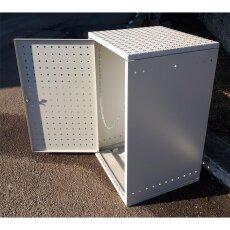Mülltonnenbox Metall Einzelbox 120l komplett montiert Aluminium