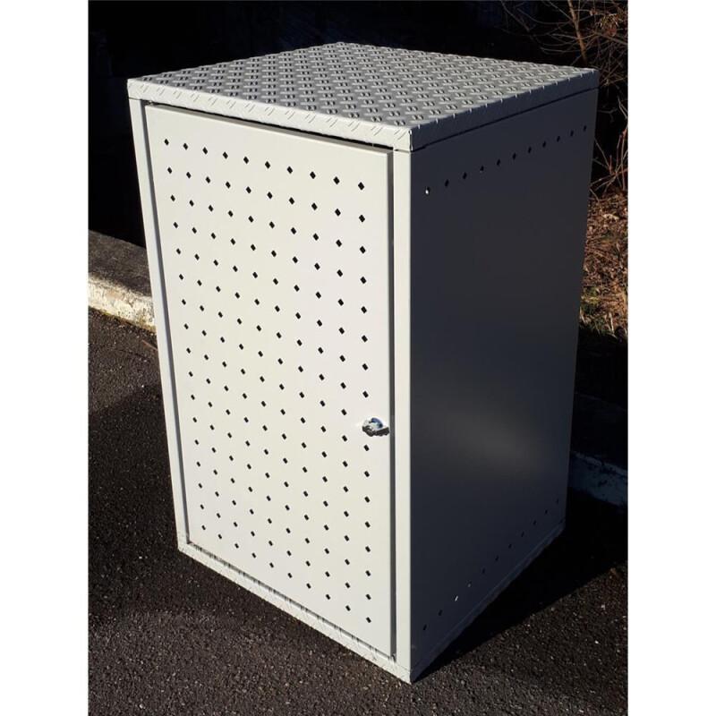 m lltonnenbox metall 120l m llbox aluminium 807 18. Black Bedroom Furniture Sets. Home Design Ideas