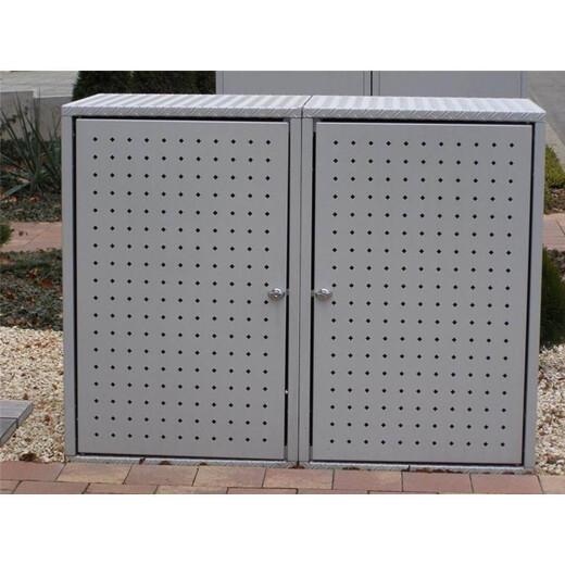 m lltonnenbox metall 120l doppel m llbox. Black Bedroom Furniture Sets. Home Design Ideas