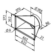 Helios ALB-ÜS 280/4/60/35 Übergangsstück