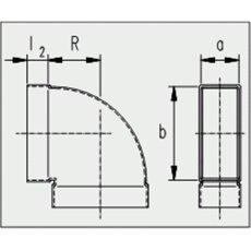 Kanalbogen 90° kurz / horizontal 50 / 100mm