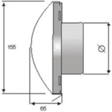 Design Fassadenblende mit Rückschlagklappe Edelstahl Version C