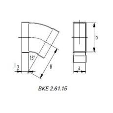 Kanalbogen 45° horizontal 50 / 150mm