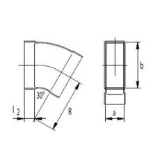 Kanalbogen 30° horizontal 50 / 150mm-Flachkanal