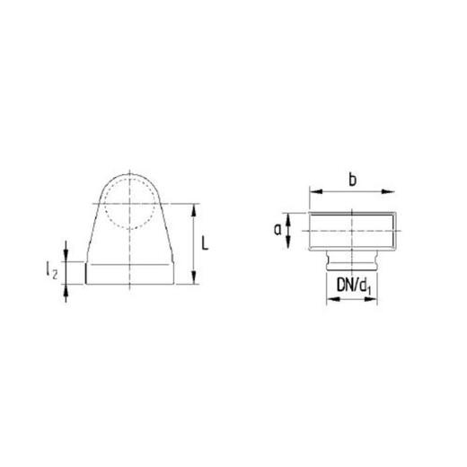 Favorit Winkelbogen 90° reckteckig auf rund, symmetrisch 50 / 200mm für UR31