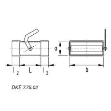 Drosselklappe horizontal DN 50 / 100