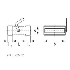 Drosselklappe horizontal DN 50 / 200