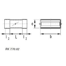 Rückschlagklappe horizontal NW 50 / 100-Flachkanal