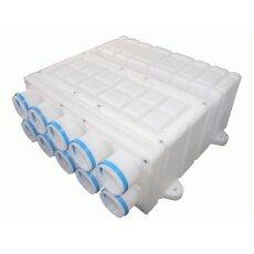 Merk Verteilerkasten Kunststoff 75-160 mit 10 Stutzen
