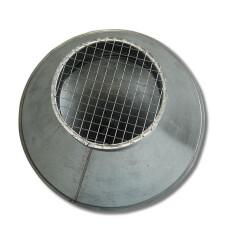 Deflektorhaube NW 160 mm V2A
