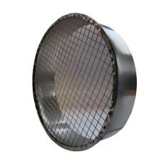 Ausblasstutzen 90° mit Schutzgitter NW 180